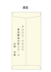 香典の中袋裏面の書き方